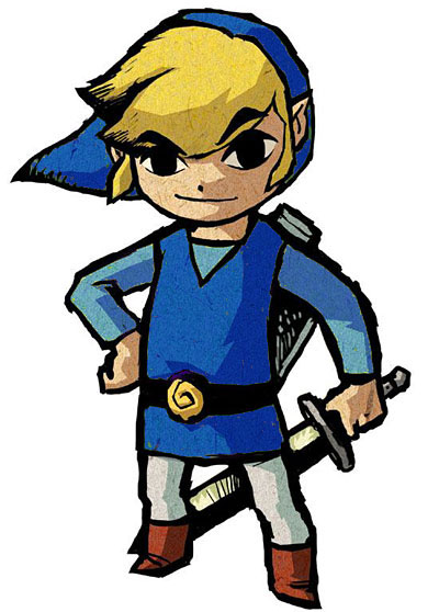 Wind waker link and his many tunics zelda valley
